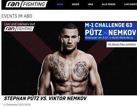 Stephan Pütz auf ran FIGHTING